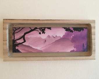 Print on foamboard in balsa wood frame