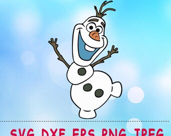 Frozen Olaf SVG DXF Png Cut Vector Files Silhouette Studio Cameo Cricut Design Vinyl Decal Scrapbooking Stencil Birthday Party