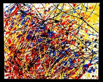Enamel Drip Painting - Original 8 (16x20)