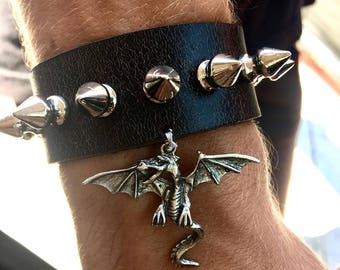 Dragon and Spikes S/m womens cuff