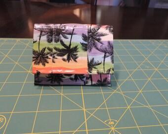 Palm tree design Accordion Wallet