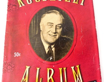 President ROOSEVELT ALBUM 1945 Vintage Collectible - Over 150 Photos