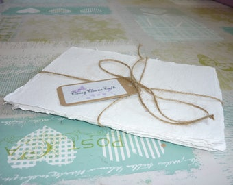 White Handmade Recycled Paper Sheets