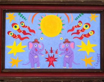 Double Elephants, Cosmic Significance Painting