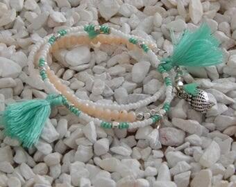 Set beaded bracelets