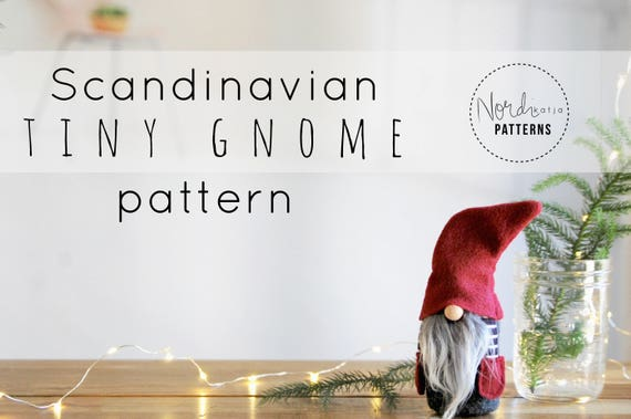 scandinavian tiny gnome pattern by nordikatja do it yourself diy pdf download pattern for. Black Bedroom Furniture Sets. Home Design Ideas