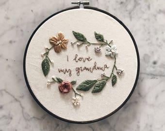 Custom Nursery Embroidery Hoop