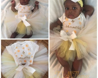 Peach Tutu Set  Newborn 0-3 months 3-6 months 6-9 months 12 months 18 months 24 months