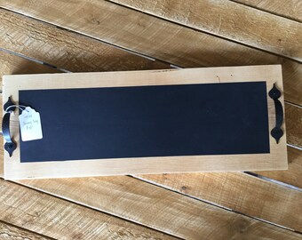 Rustic Chalkboard Serving Tray