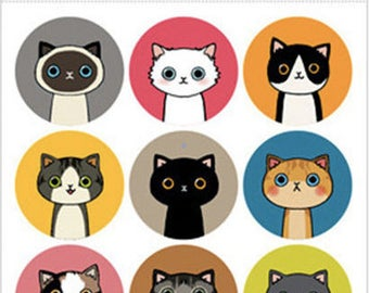 Mini Cute Kawaii Stickers Lovely Cat Animal