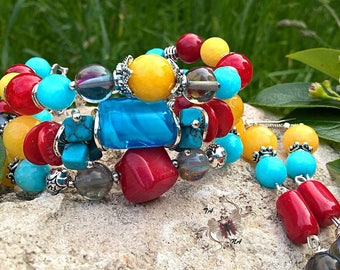 """Author of natural stones bracelet """"colors of summer"""""""