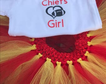 Chiefs Girl Bodysuit and Tutu