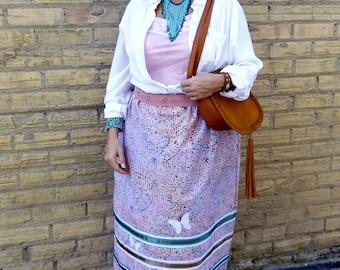 Traditional ceremonial ribbon skirt