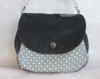 Crossover bag, handbag, shoulder bag, circle bag