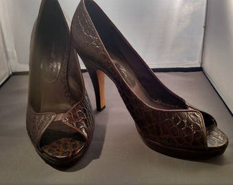 Italian Leather Ladies High Heels by Mario Pacci