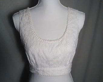 Vintage 1960s 'The Lilly' white halter top by 'Lilly Pulitzer'