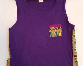 Men's Kebu African Tank, Purple