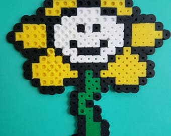 Flowey the Flower Perler Bead Sprite