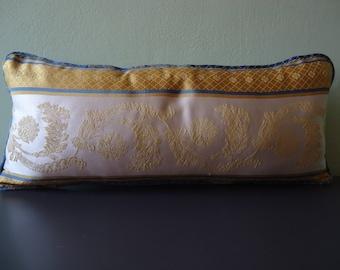 Handmade square silk pillowcase 56x24 cm