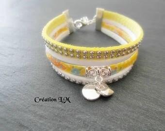 Liberty yellow and white silver bracelet