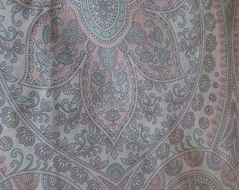 Pastel Paisley Polycotton Fabric Baggy Trousers