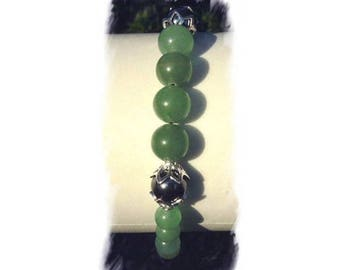 HEMATITE and AVENTURINE and Silver 925 bracelet