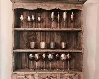 Large Wooden Rustic Wall Shelf Unit
