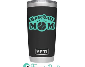 Baseball Yeti Etsy - Yeti tumbler stickers