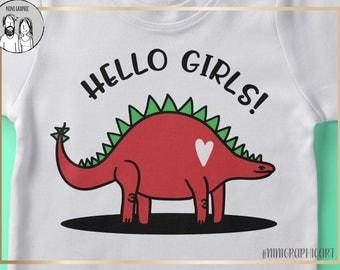Boys Dinosaur svg, boys valentine svg, Hello Girls svg, Dinosaur svg, INSTANT DOWNLOAD, dxf, svg, png, Valentines day, Valentine svg, cricut