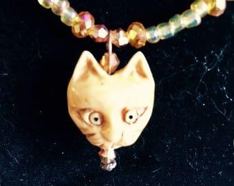 Exotic Amber Tones Cat