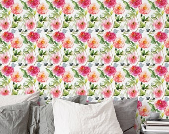 Vintage Floral Wallpaper Removable Wall Mural Nursery Decor Flower Pattern Covering