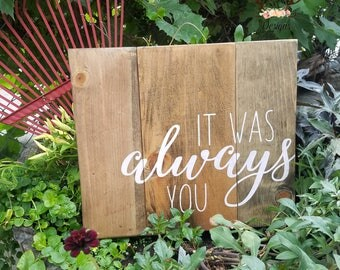 Wood sign | home decor | wedding decor | rustic | pallett sign | sign | pallet wood | always you | love sign | bedroom decor | rustic decor