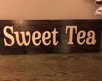 "Rustic ""Sweet Tea"" Handmade Sign!"