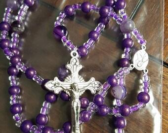 Glitter Purple Rosary