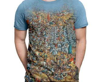 FANTUCCI T-shirt for Men Find Obama at the Battle of Orsha. XS - 3XL Cotton T-shirts for Men.