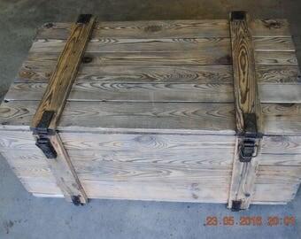 Handmade Vintage wooden chest