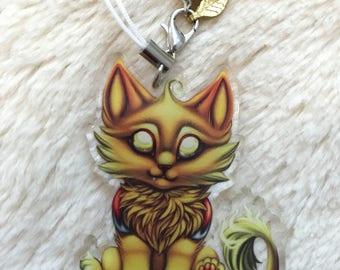 Cinder Kitty charm