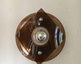Vintage Touch Wall light plexiglass wall lamp 1970 's