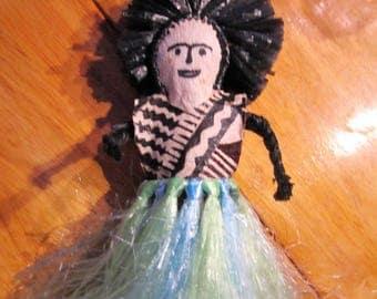 Vintage weird-ass native straw doll