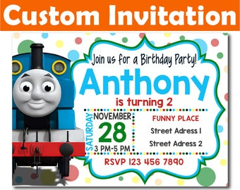 SALE -50%: Personalized Thomas Invitation, Thomas Birthday Invitation, Thomas invitation, Thomas Digital Invitation, Thomas custom invite