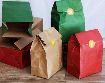 20pcs 18*7.5*32cm kraft paper Flat pocket bag kraft paper gift bag food packaging paper bag wedding food packaging bag