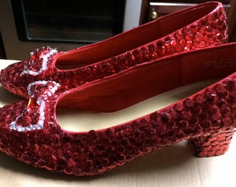 Ruby Red Slippers from the Wizard of Oz; Size 7.5 narrow