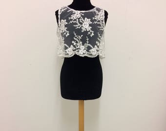 Lovely Lace Wedding Crop top.