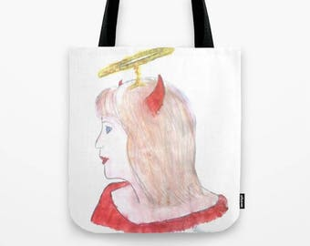 Angel of Ruin tote bag