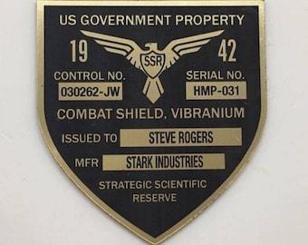 Captain America Shield Badge