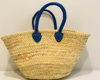 Blue Handle Basket