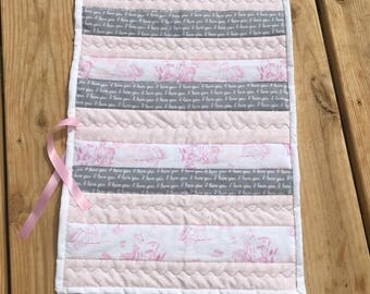 Baby girl diaper changing pad