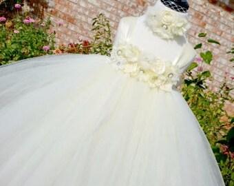 Ivory flower girl tutu dress, Ivory tutu dress,Ivory tutu, Ivory tutu dress, off white tutu dress,Ivory flower girl dress