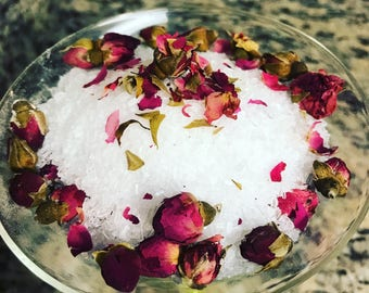 Rose Bath Salts/ Bath soak/ Epsom Salt Bath
