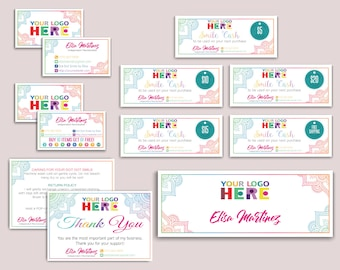 Dot Dot Smile Kit, Dot Dot Smile Marketing Kit, DDS Mandala Marketing Bundle, DDS Marketing Set, Personalized Card, Printable Items DD04